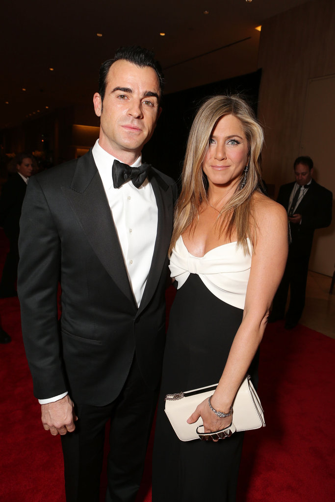 Jennifer Aniston stepped out in LA with fiance Justin Theroux.