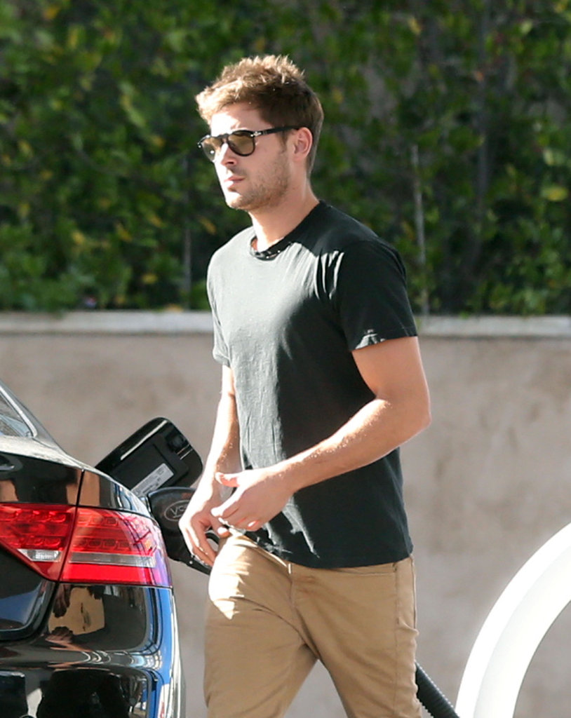 Zac Efron stepped out in the LA suburbs.