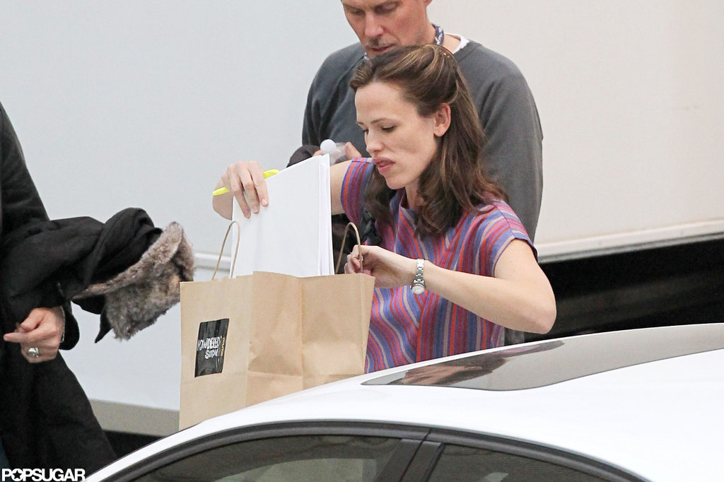 Jennifer Garner Reports to Set in Costume With Matthew and Jared