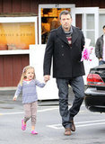 Seraphina Affleck got breakfast in LA with dad Ben Affleck.
