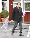 Ben Affleck held Seraphina Affleck's hand on the way to breakfast in LA.