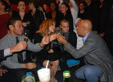 Jennifer Lopez and Casper Smart were toasted by friends.