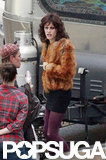 Jared Leto dressed as a woman on The Dallas Buyer's Club set.