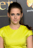 Kristen finished off her look with a perfectly messy braid and smokey eyes.