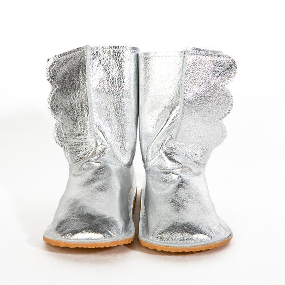 Chickpea Kid Silver Wing Boots