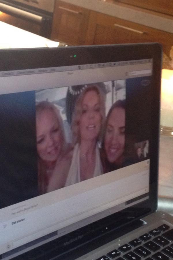 Luke Jacobz and Mel B did a Skype chat with Spice Girls Emma Bunton, Geri Halliwell and Mel C. Source: Twitter user lukejacobz