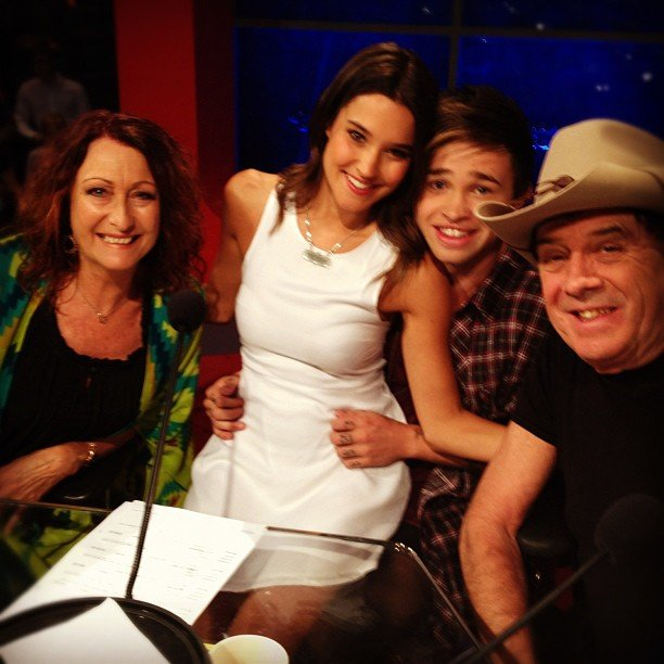 Home and Away stars Lynne McGranger and Rhiannon Fish joined Reece Mastin and Molly Meldrum for Channel Seven
