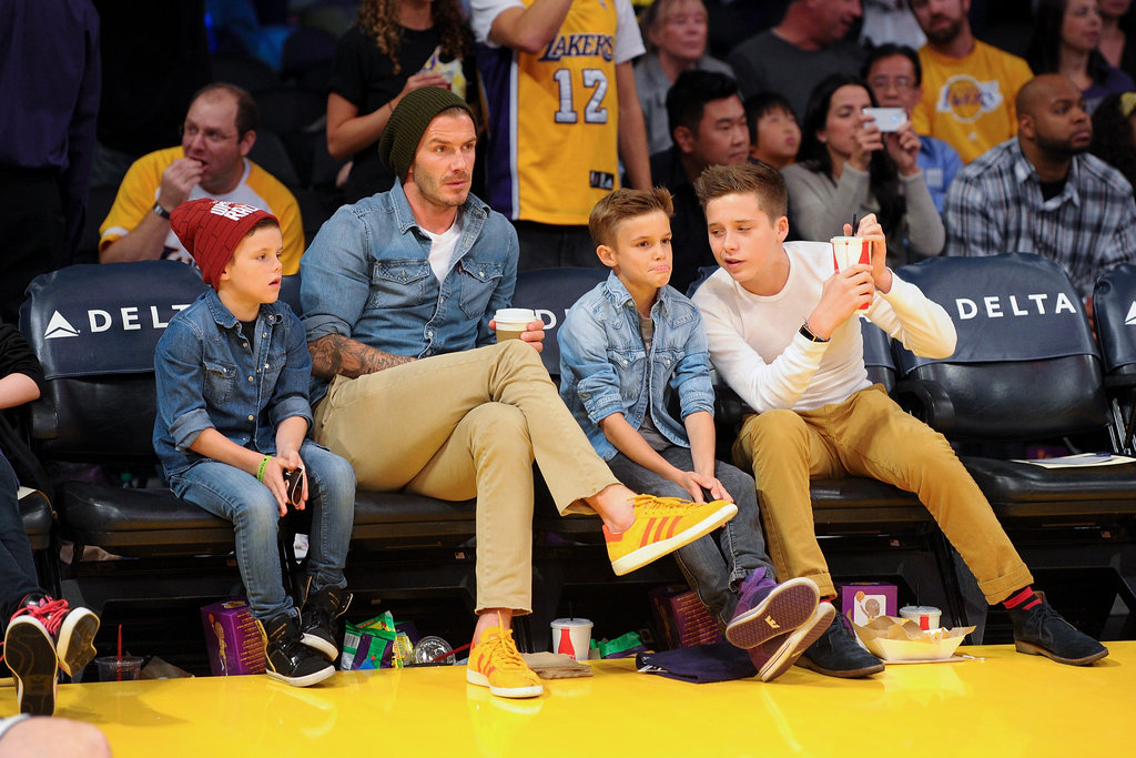 The Beckham Boys Put on a Sweet Show During the Lakers Game