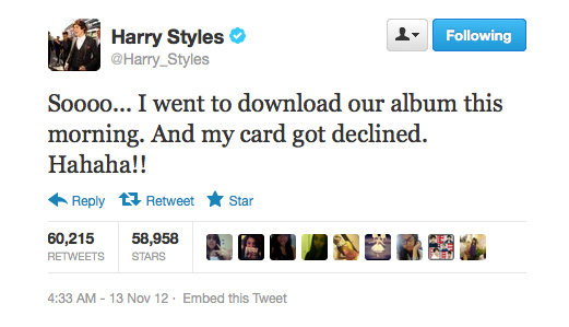 Must be one expensive album, Harry Styles!
