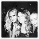 Erin Heatherton, Lily Aldridge and Miranda Kerr displayed symptoms of Bieber fever as they hit the singer's concert. Source: Instagram user mirandakerrverified