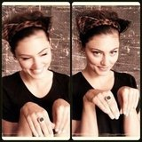 Phoebe Tonkin showed off some cute Nerida Winter cat ears. Source: Instagram user phoebejtonkin