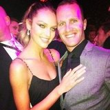 Candice Swanepoel kept close to her brother at an event. Source: Instagram user angelcandices