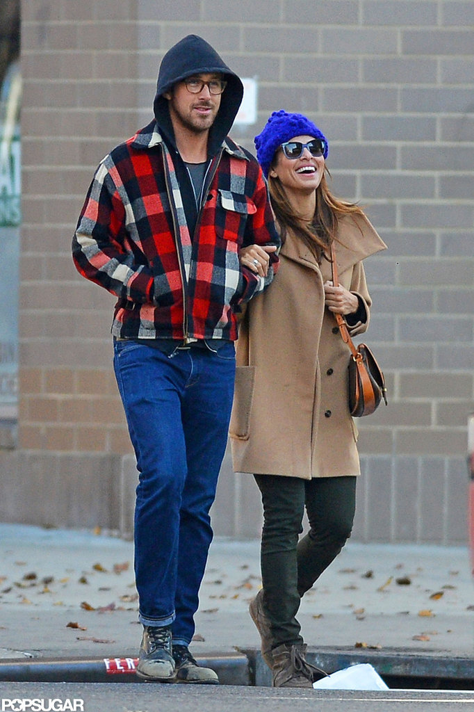 Ryan Gosling and Eva Mendes Keep Things Hot in Cold NYC