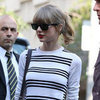 Taylor Swift Visits Bills In Sydney In Striped Top For ARIAs