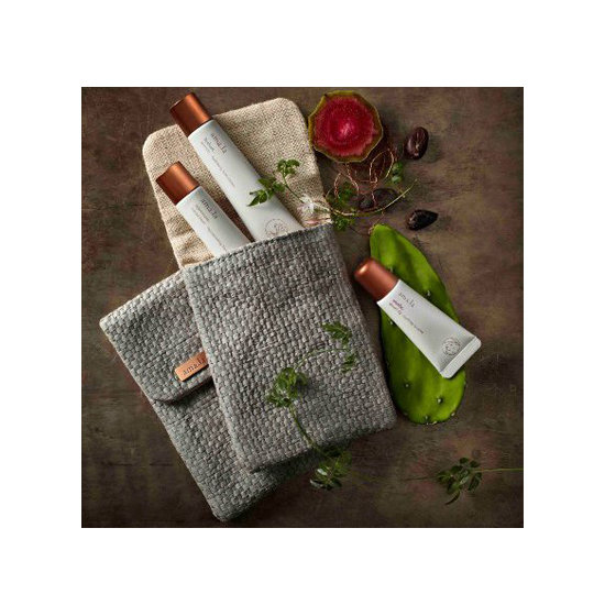 Give someone a hand . . . or better hands, that is. The Amala Handbag Essentials ($44) includes two hand creams and a lip balm (which can double as cuticle care). It all comes in a hemp carrying case that will easily fit inside the smallest clutch.