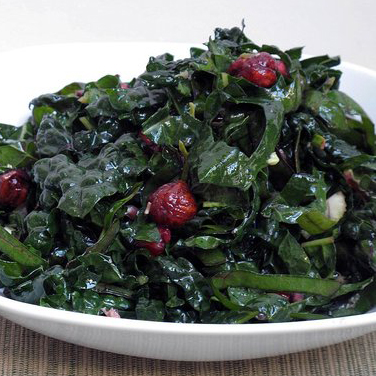Pomegranate-Hazelnut Winter Greens Salad