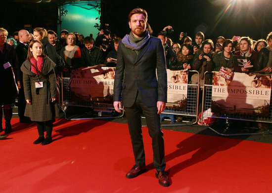 Ewan McGregor attended the London premiere of The Impossible.