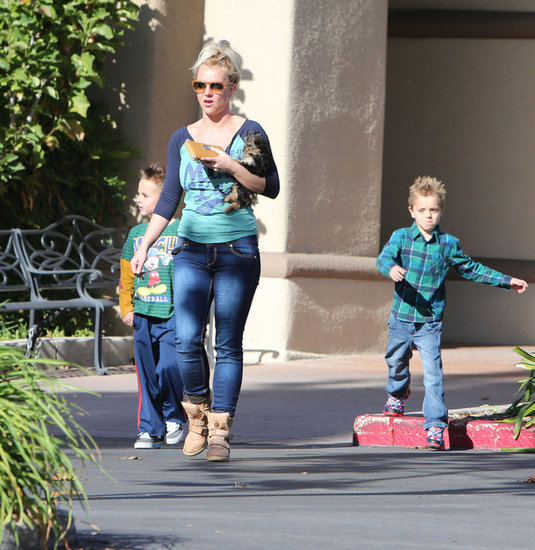 Britney Spears hung out with her sons.