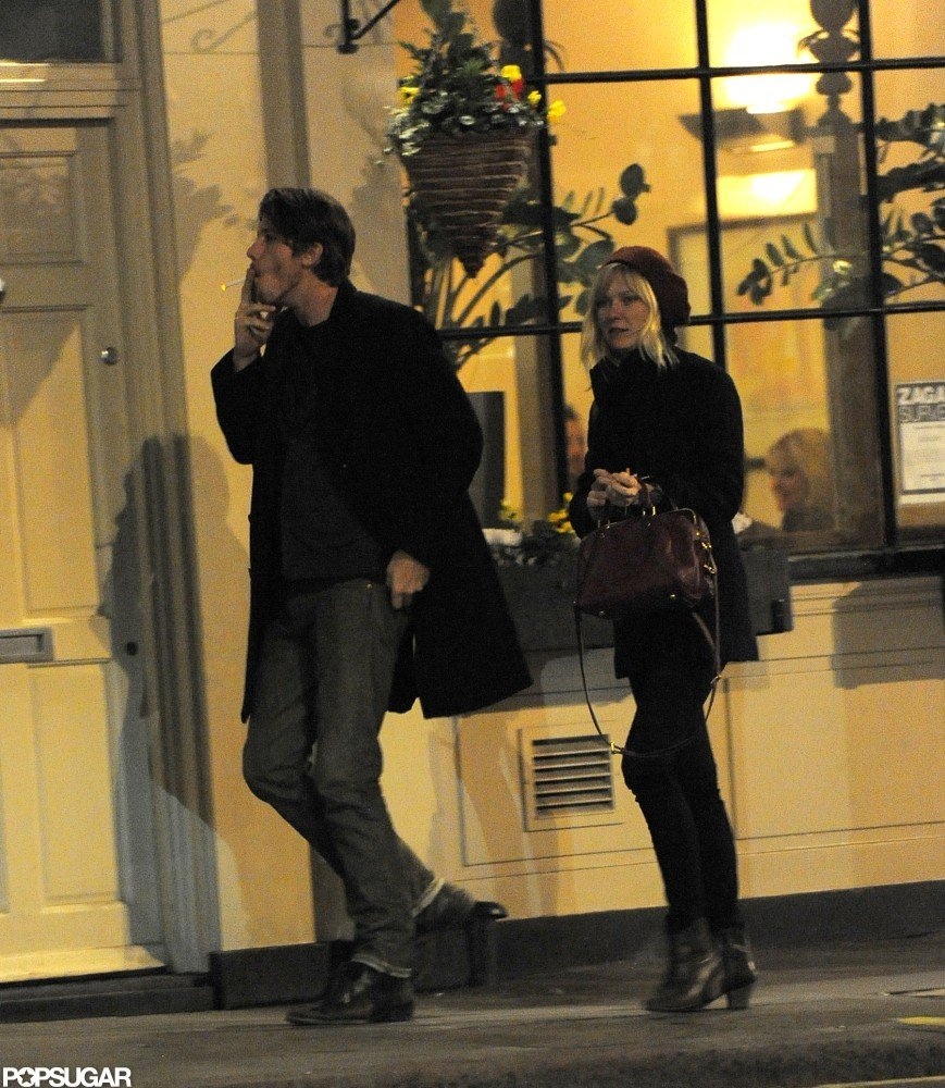 Kirsten Dunst and Garrett Hedlund Share Late-Night Kisses in London