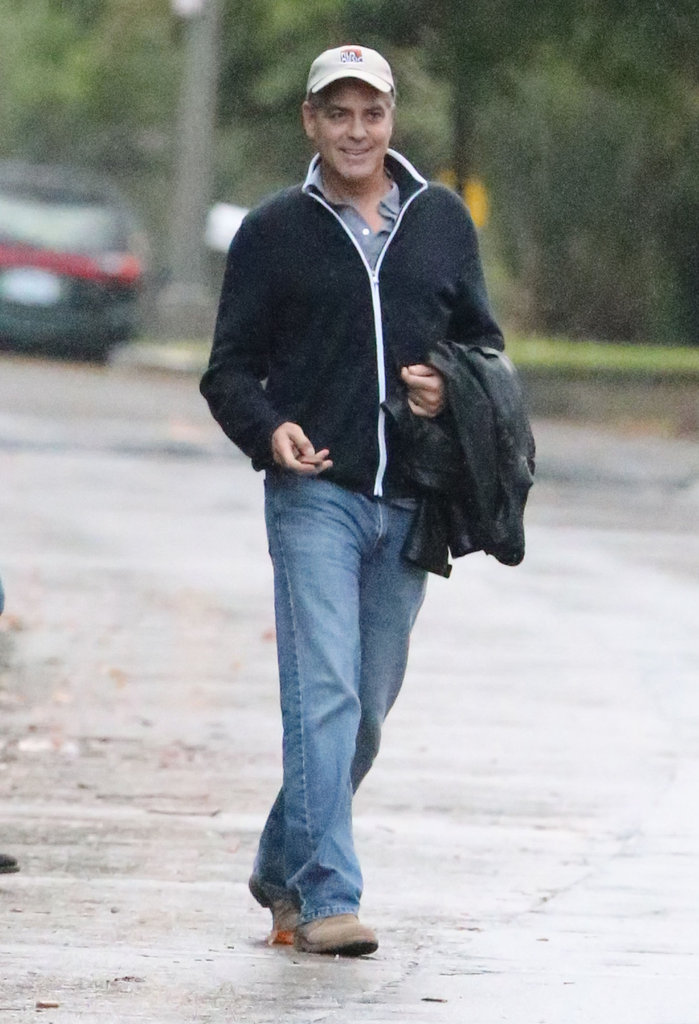 Geogre Clooney walked while out in LA.
