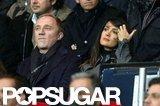 Salma Hayek and Francois-Henri Pinault focused on the match.