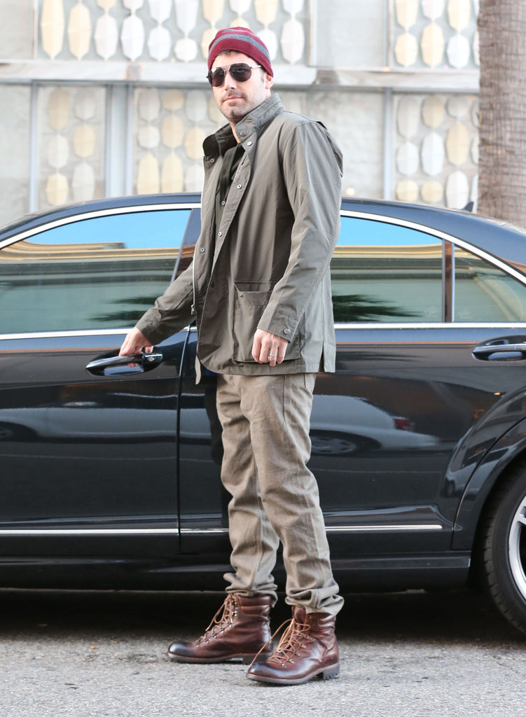 Ben Affleck looked ready for Winter as he ran errands.