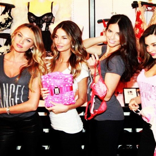 The Victoria's Secret Angels joined forces for an in-store event. Source: Instagram user angelcandices