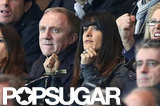 Salma Hayek and Francois-Henri Pinault gave their full attention to the match.