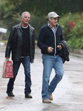 George Clooney caught up with friends in LA.