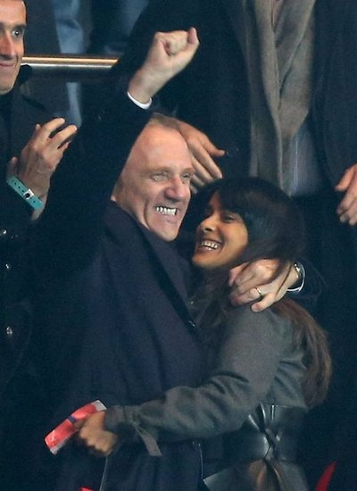 Salma Hayek and Francois-Henri Pinault couldn't contain their excitement.