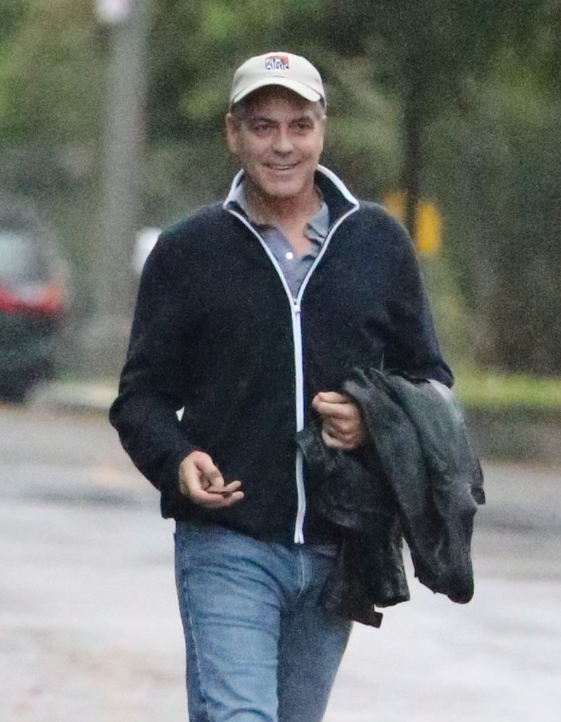 George Clooney stepped out in a cap and sweater in LA.