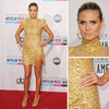 Pictures of Heidi Klum in Gold at the American Music Awards