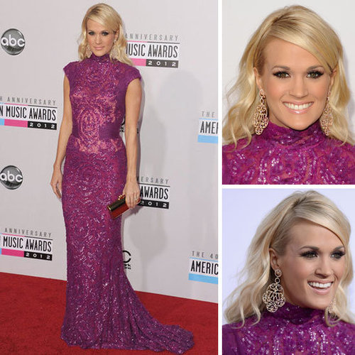 Pictures of Carrie Underwood at the American Music Awards