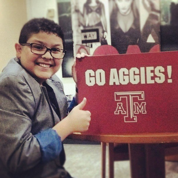 Rico Rodriguez supported his home team on Good Morning America. Source: Instagram user starringrico
