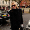 Kate Moss Leaving Her London Home in All Black | Pictures