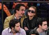 Mary-Kate Olsen smiled while out in NYC.