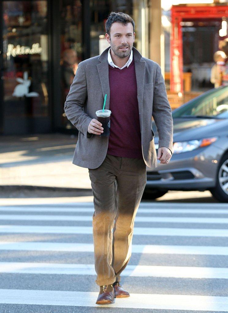 Ben Affleck strolled through his Brentwood neighborhood.