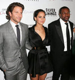 Bradley Cooper, Jennifer Lawrence, and Chris Tucker got together at the Silver Linings Playbook LA premiere.