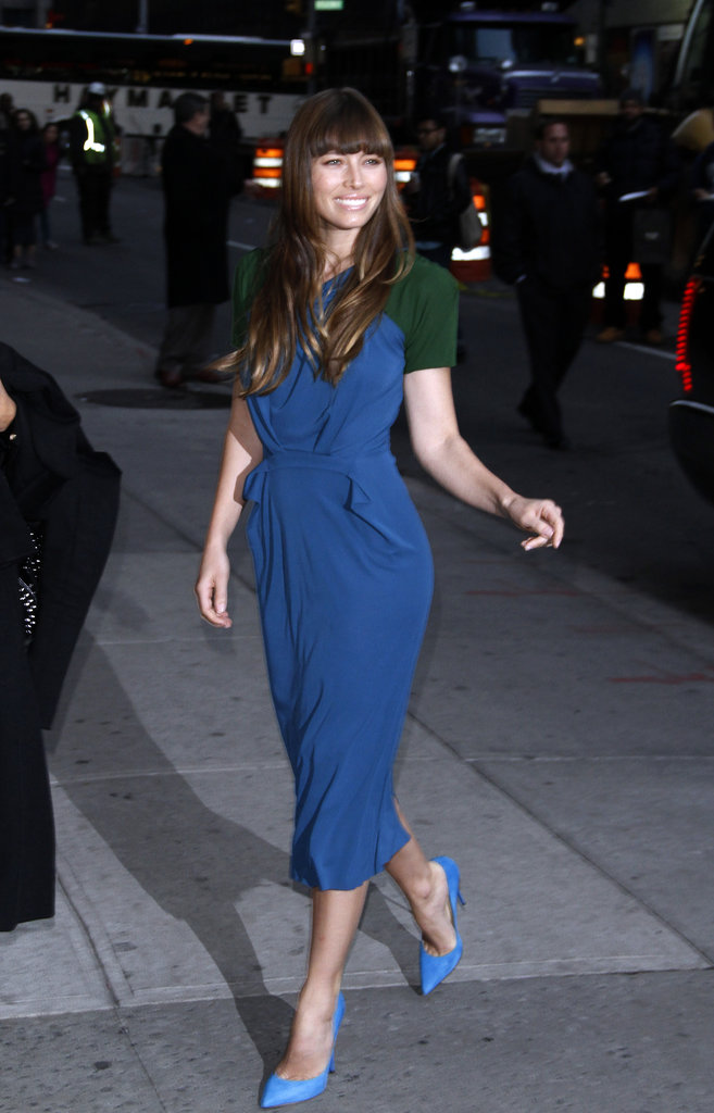 Jessica Biel stepped out in NYC.