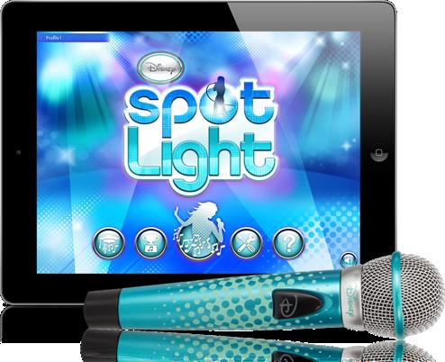Disney Spotlight Digital Wireless Mic + Karaoke App