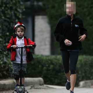 Celebrity on Jog With Son | Picture