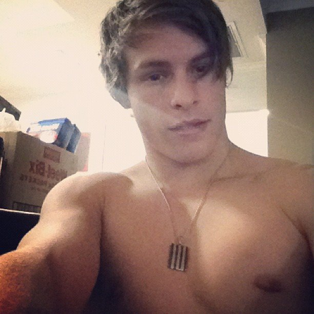 Trent Bell from The Collective took a sneaky shirtless shot. Source: Instagram user trentbell90