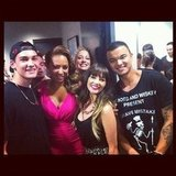 Samantha Jade found herself in a Mel B and Guy Sebastian sandwich. Source: Instagram user samantha_jade_music