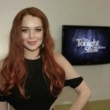 Lindsay Lohan stopped by The Tonight Show With Jay Leno to promote Liz and Dick. Source: Instagram user tonightshow