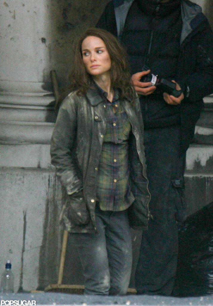 Natalie Portman walked on set.