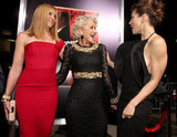 Jessica Biel chatted with Helen Mirren and Toni Collette on the red carpet.
