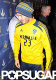 David Beckham sported his team number.