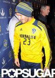 David Beckham sported his team number.