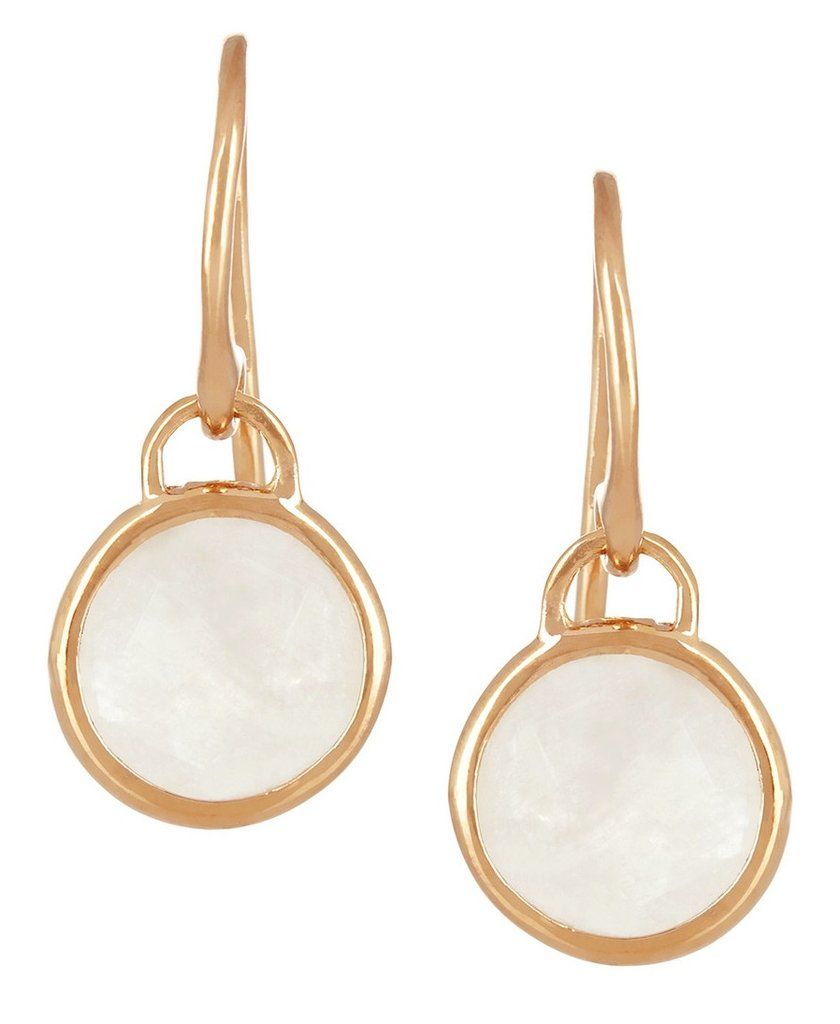 A simply stunning pair of Monica Vinader miniature Luna 18-karat rose gold earrings ($170), guaranteed to punch up the polish of any outfit, for any occasion.