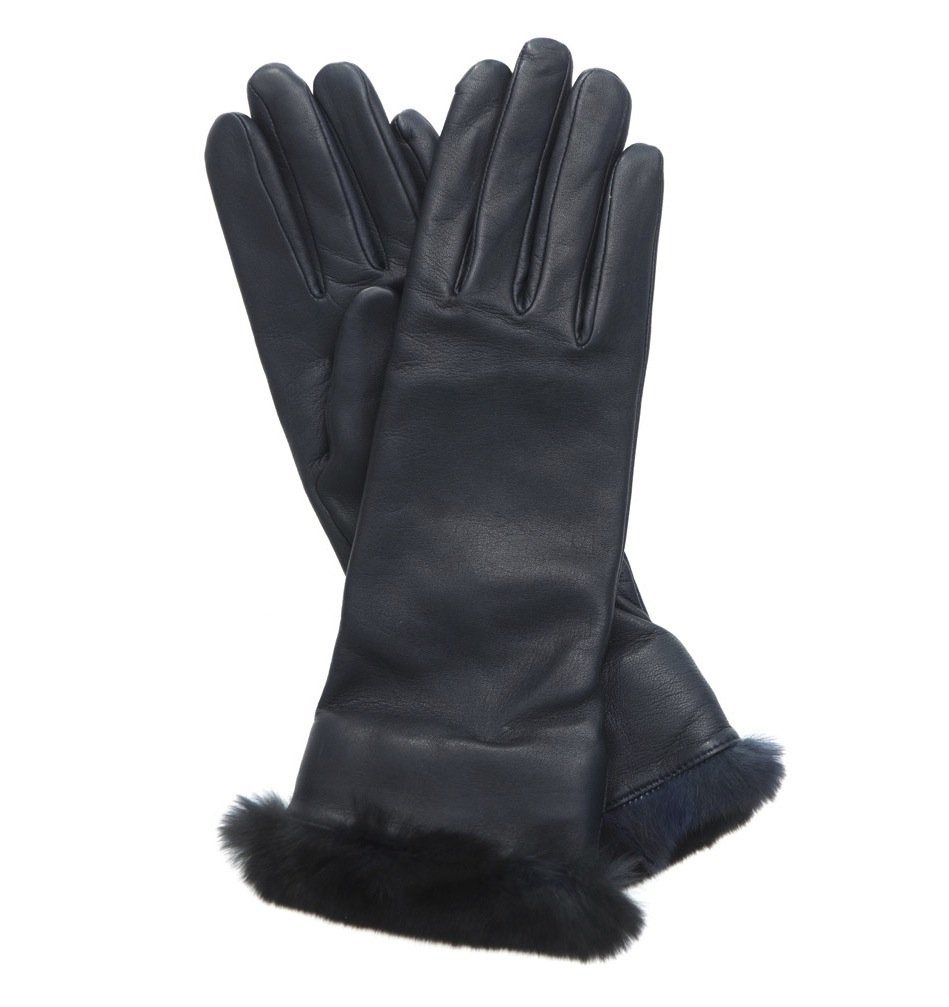These Agnelle lamb leather and orylag fur gloves ($214) are beautiful from start to finish, and with its no-fail hue and soft, luxe fur trim, you can't go wrong.